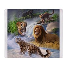 Big Cats Soft Fleece Throw Blanket Blanket Fleece Blanket Sofa/Bed/Plane Travel Plaids Bedding Towel
