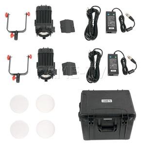 Image 5 - 2 Pcs CAME TV Boltzen 100w Fresnel Fokussierbare LED Bi Farbe Kit Led video licht
