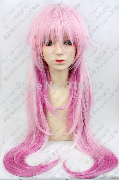 Costruttivo H011 K Neko Lunga Viola Della Miscela Di Colore Rosa Del Partito Di Cosplay Parrucca Di Modo