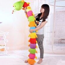 50CM Colorful Long Cognitive Plush Worm Stuffed Doll Toys Soft Worm Cushion Educational Gift For Birthday крючок texan worm 1 0