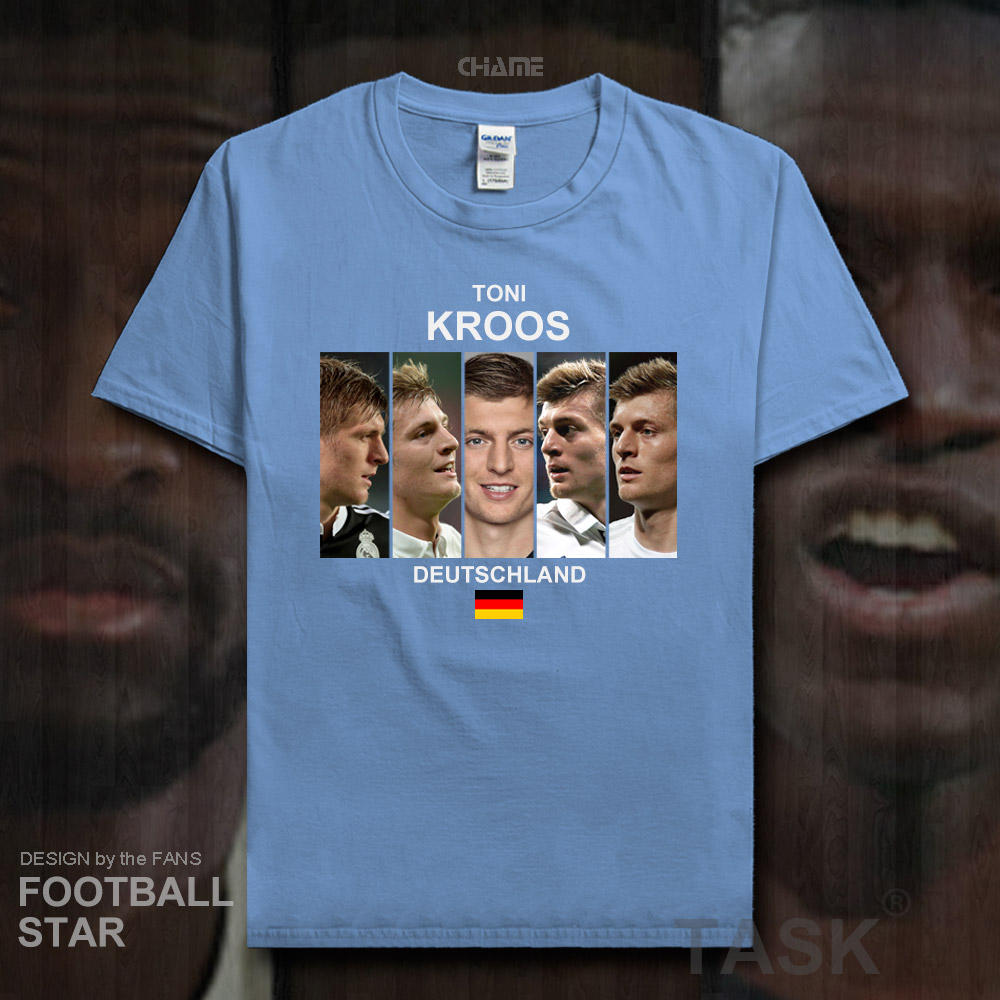 separation shoes f4c6a bc9b1 US $5.99 |Toni Kroos TK t shirt 2018 jerseys Germany Real footballer star  tshirt 100% cotton fitness The fans t shirts Madrid clothes 20-in T-Shirts  ...