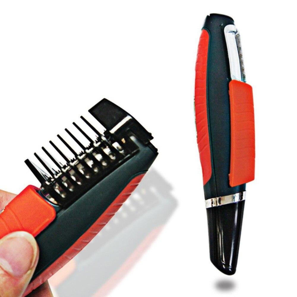 Männlichen Switchblade Rasierer Pflege Remover Haar Trimmer 2 in 1 Schnurrbart Bart Augenbraue Haar Trimmer Rasierer Haar Entferner Set