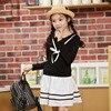 Girl Dress Long Sleeve Kids Dresses Nova Brand Bowknot Children Clothing School Clothes Spring Autumn Baby