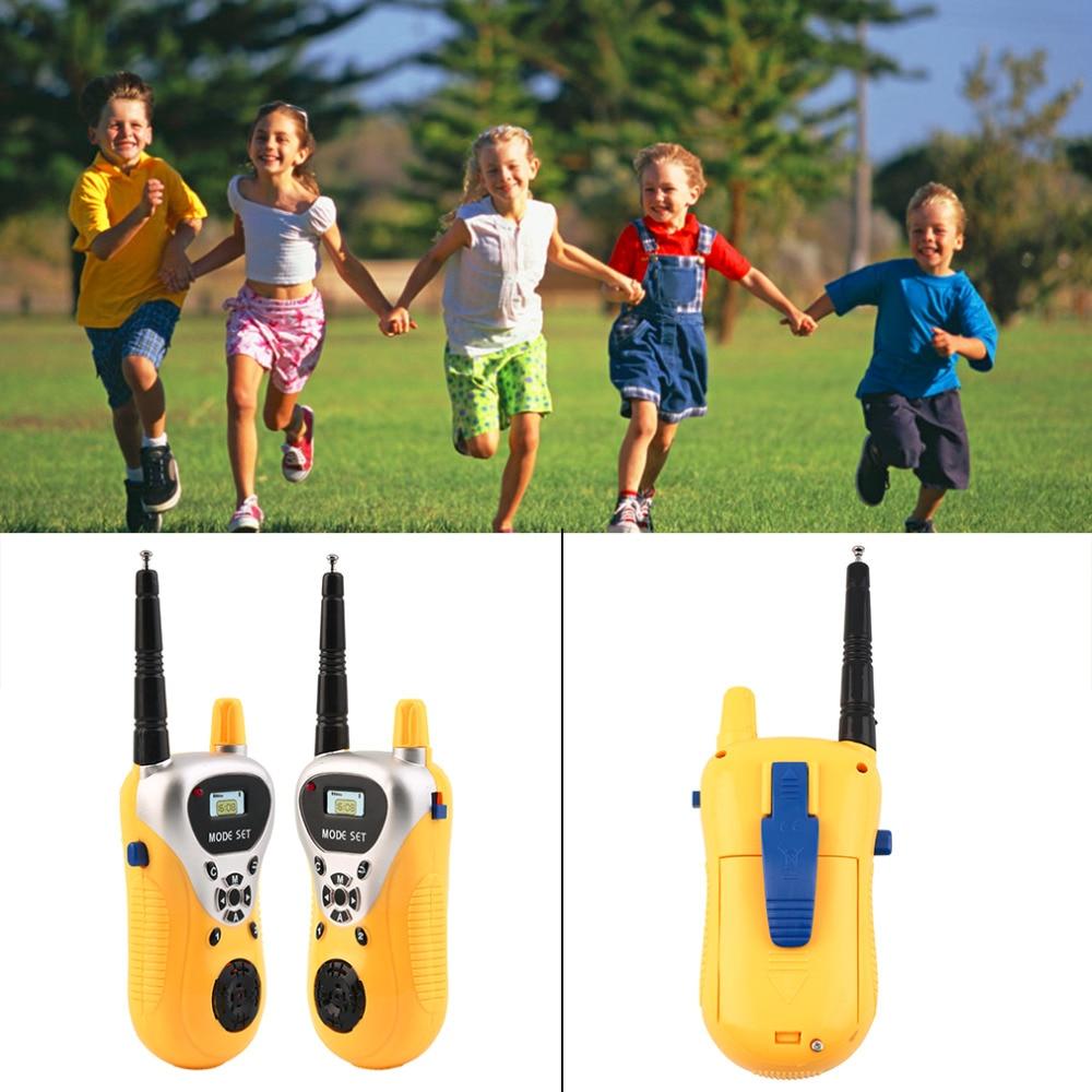 Kids Electronic Walkie Talkie infantil Phone Toy Kid Mini Handheld Intercom radio transmitter children Two-Way radio interphone