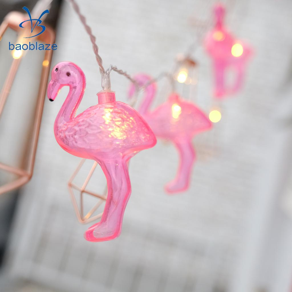 2m 20 LEDs Pink Flamingo Fairy String Light Home Garden Party Decor Lighting