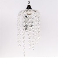 Beautiful Romantic Crystal Droplets Single Wall Light With Switch Indoor Chrome Sconce Lighting