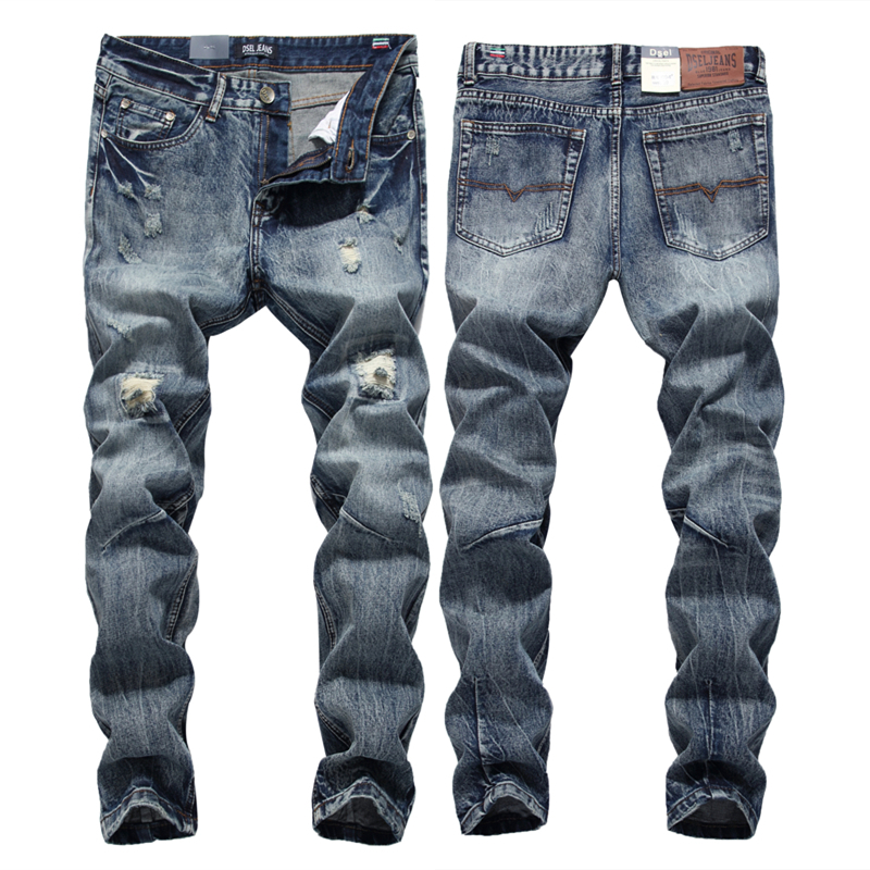 Streetwear Mens Jeans Ripped Denim Full Pants New Famous Brand Biker Jeans Men High Quality Slim Patch Jeans Plus Size 1604 2017 fashion patch jeans men slim straight denim jeans ripped trousers new famous brand biker jeans logo mens zipper jeans 604