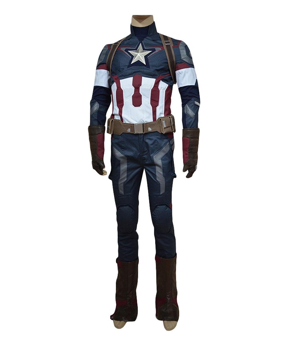 Az Ultron kora Amerika jelmez Cosplay Steve Rogers jelmez egységes - Jelmezek