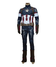 Captain America Costume Avengers Age of Ultron Captain America Steve Rogers Cosplay Men Uniform Outfit Halloween Carnival