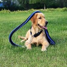 Высокое качество нейлон Модернизированный Цвет воротник стереотипный поводок Большой поводки для собак, питомец выдвижной автоматический поводок для больших собак