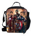 Fashion Cartoon Lunch Bag for Kids Avengers Boys Lunch Box Bolsa Termica Lancheira Children Thermal Lunchbox Captin America
