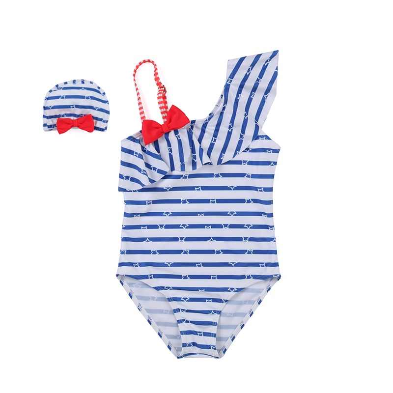 6583d2554 ... 2019 niños de natación trajes de niñas de un hombro de los niños traje  de baño