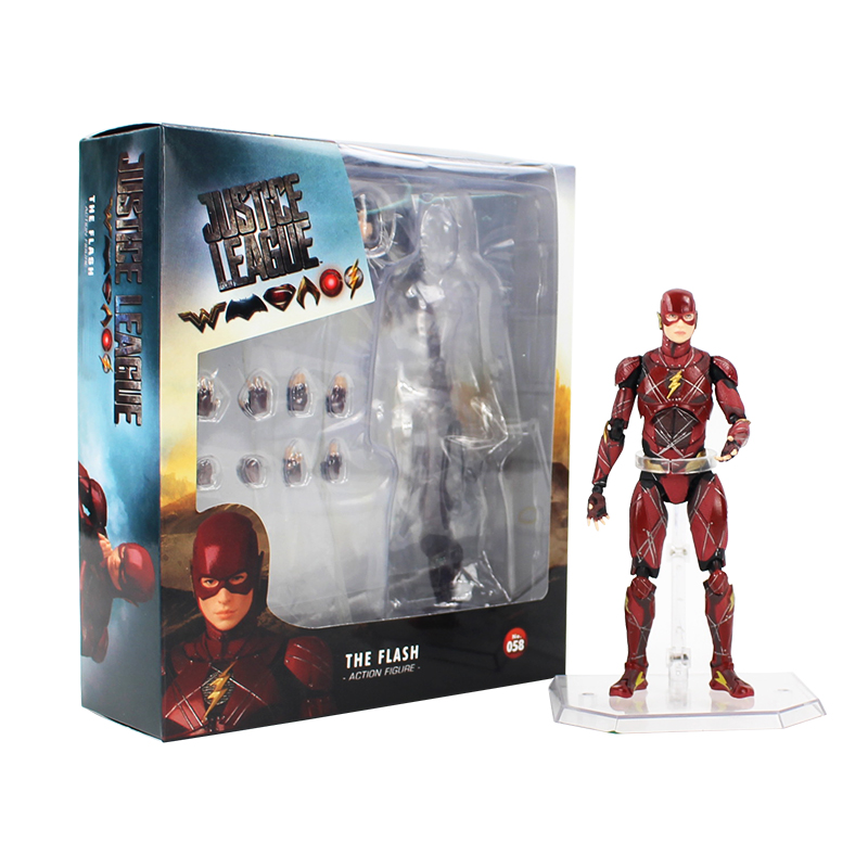 16 Cm Justice League De Flash Action Figure No.58 Beweegbare Beeldje Pvc Collectible Model Toy Doll Gratis Verzending