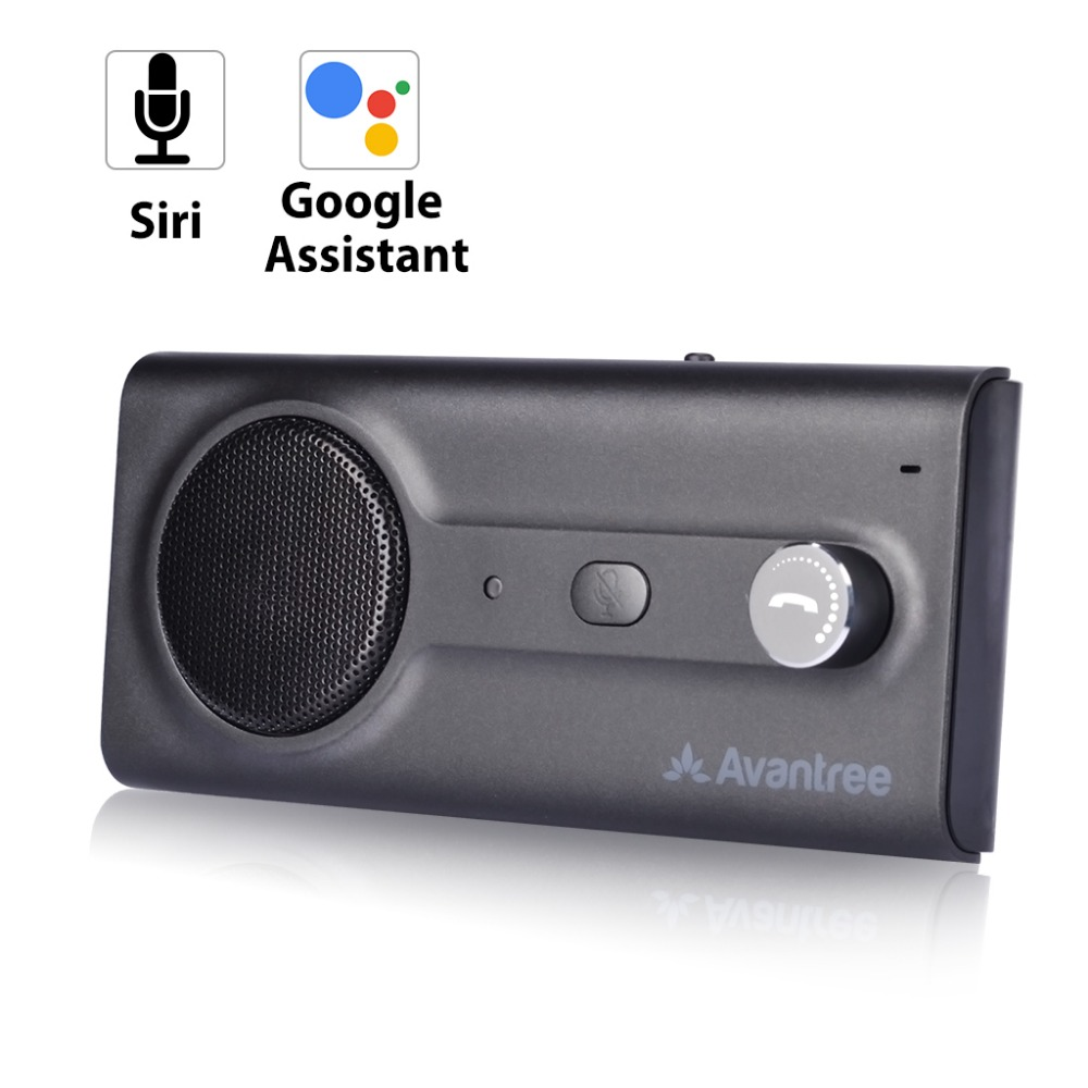 NEW Bluetooth Handsfree Visor Car Kit with Siri, Google Assistant Voice Command, Auto Power On Wireless In Car speakerphone