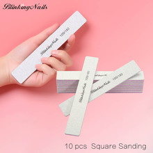 BlinkingNails 10pcs/lot Square Shaped Nail File Manicure Tool Set Emery Boards for Nail Files for Nail Professional File Cuticle