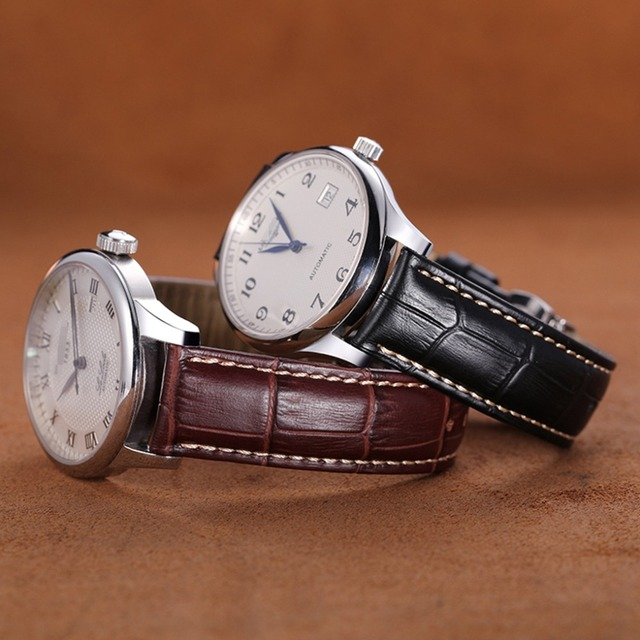 Crocodile Grain Leather Watchbands