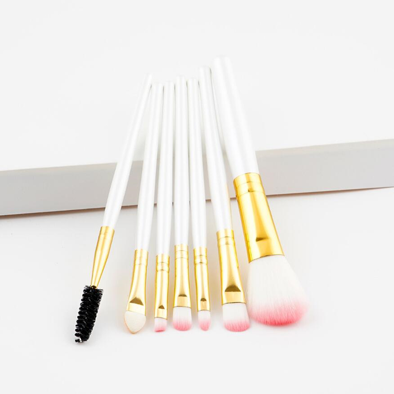 CCBLING 7pcs Pro Makeup Brushes Set Foundation Powder Eyeshadow Eyeliner Lip Professional Cosmetic Beauty Makeup Tool