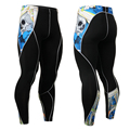 New Design Men's Legging Compression Tight Jogging Pants Runing Pants 3D Printing Pant Full Long Workout Mens Tight Pants