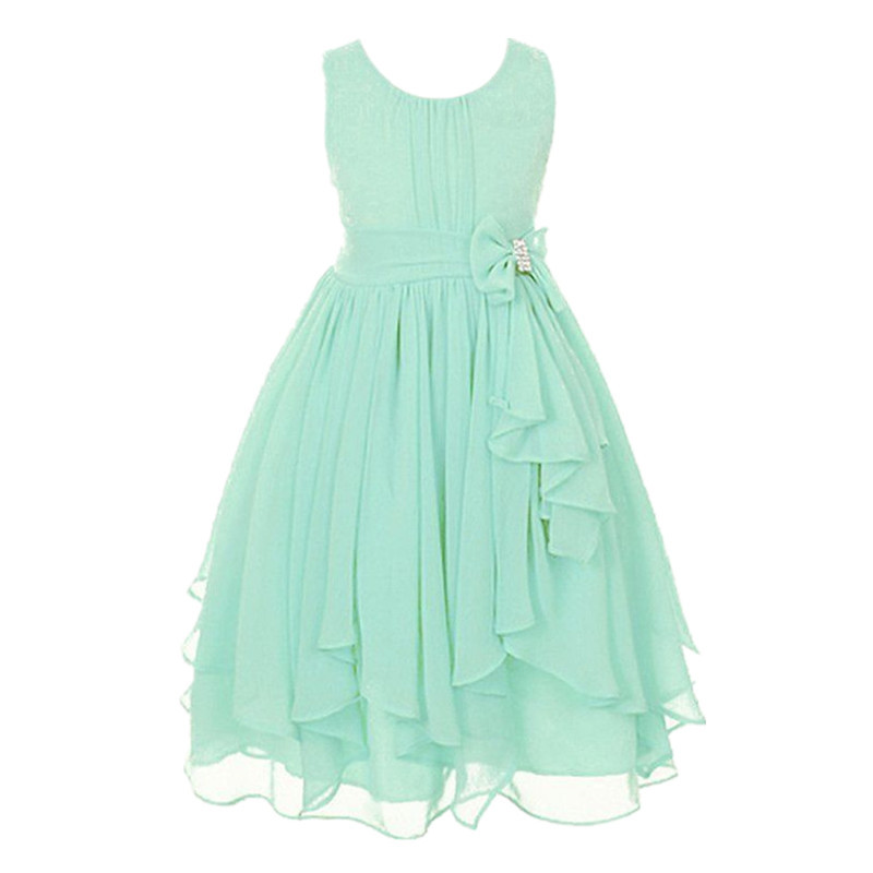 Fashion Vestido Summer Wedding Dresses Casual 13 Colors Kids