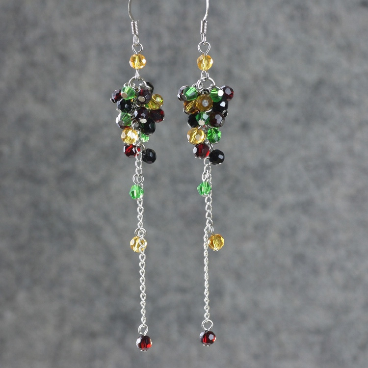 Long Design Crystal Earrings Handmade Beaded Jewelry Drop Earring In From Accessories On Aliexpress Alibaba Group