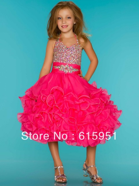 Hot Pink Pageant Dress