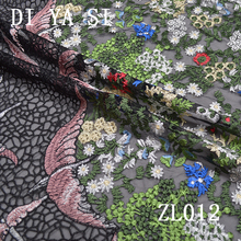 2016 African swiss Lace Fabric High Quality Tulle For Wedding dress Party cloth Beaded French