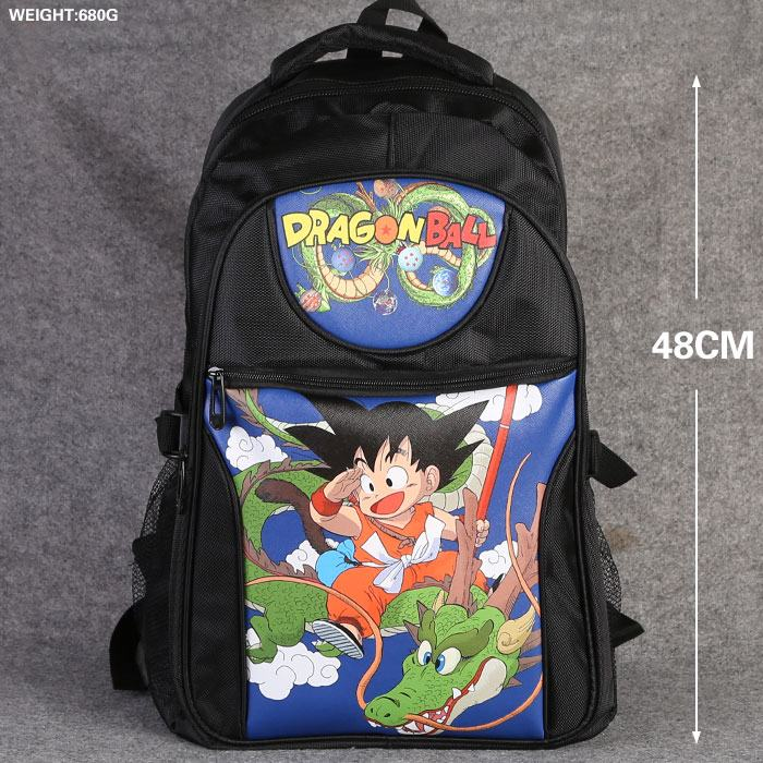 Dragon Ball Z Anime Backpack School Bag DragonBall DBZ Kids Goku Laptop Bag Large capacity Double