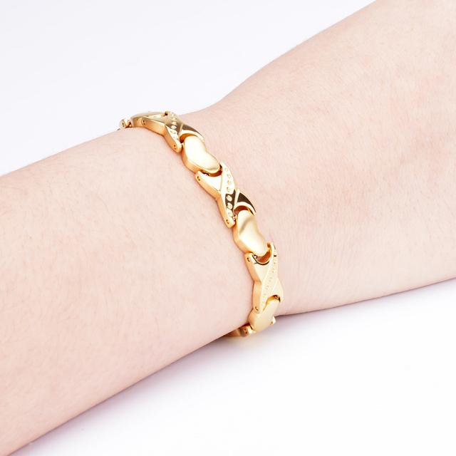 Oktrendy Healing Magnet Bracelet High Quality Stainless Steel Heart Bracelet Charm DIY Bracelet Jewelry 4 colors
