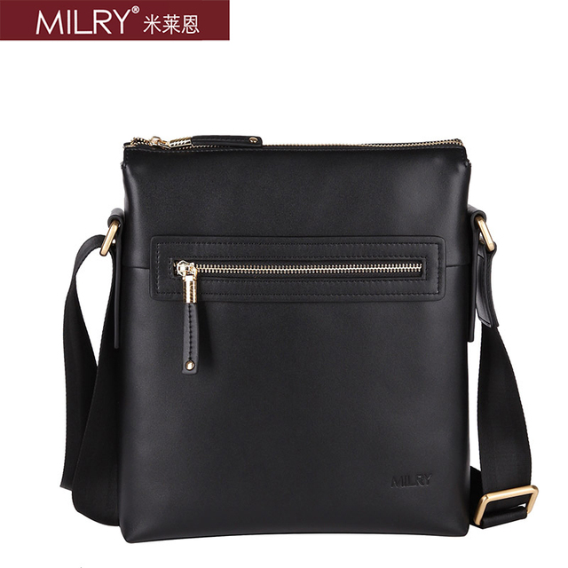 2013 new arrival Free Shipping Brand MILRY 100% Genuine Leather shoulder Messenger Bag for men fashion business bag  CS0009-1
