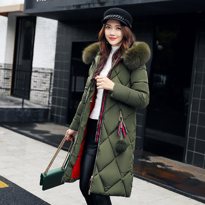 Winter   coat   women 2018 Plus Size Fur Collar Thicken Warm Long   Down   Jacket lassie Luxury Female jacket chaqueta mujer doudoune