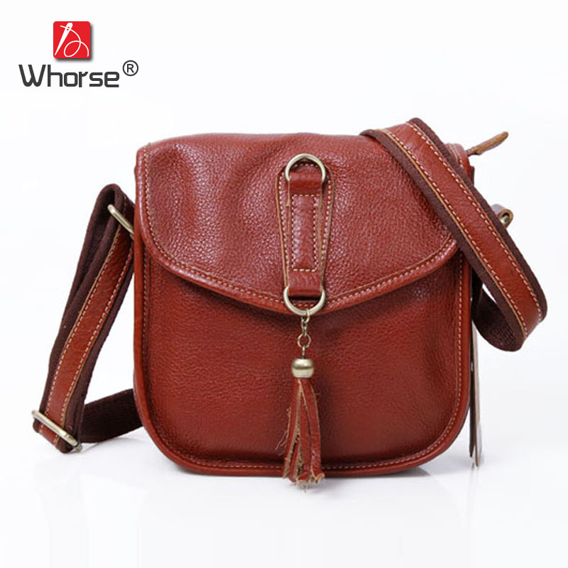 New Vintage Casual Cover Tassel Design Small Flap Bag Top Cowhide Womens Crossbody Shoulder Messenger Bags For Women W092328 vintage canvas messenger bag high quality womens crossbody bags bend zipper design casual small flap tote bag