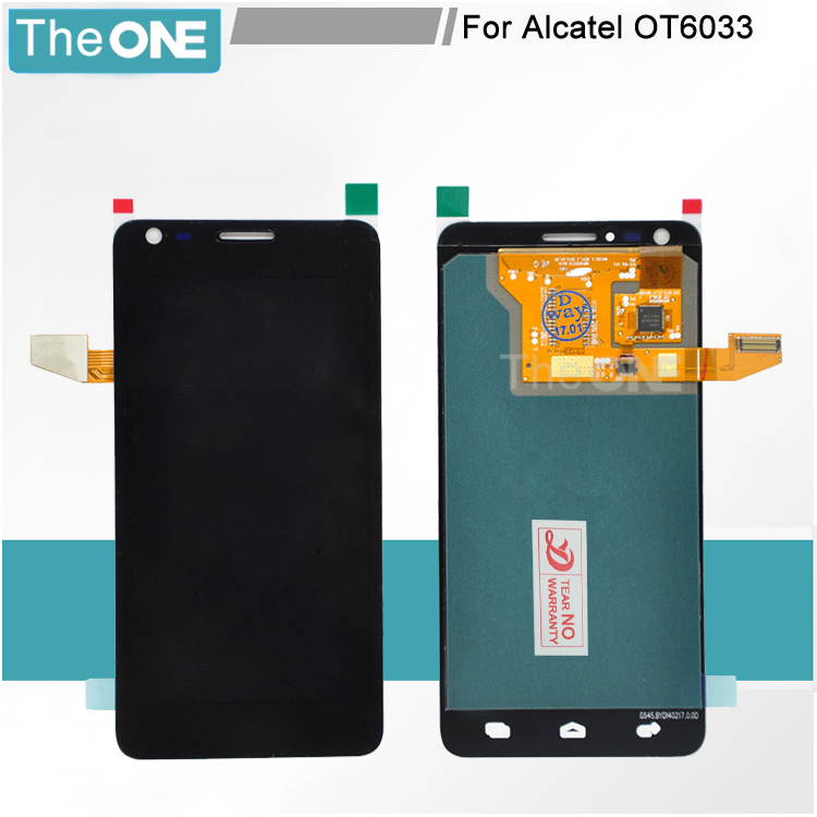 FOR Alcatel Idol Ultra OT6033 6033 LCD Display with Touch Screen Digitizer assembly free shipping lcd screen for alcatel idol 2 s ot6050 6050 6050a 6050y idol 2s lcd display touch screen digitizer assembly free shipping