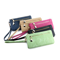 SHANSHUI Multicolor Wallet For Women PU Leather Purse Card Holder High Quality Wallets Long 2 Folds