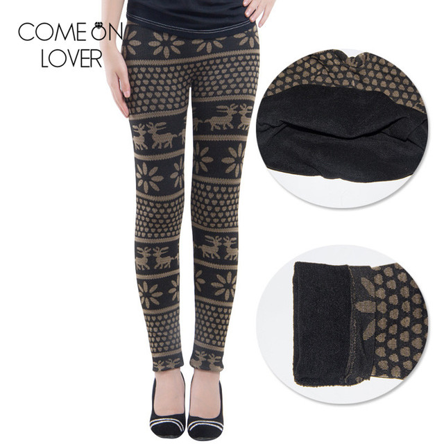 TE2401 Wholesale and retail warm workout leggings fashion high quality thick winter leggings popular  deer snowflakes leggings
