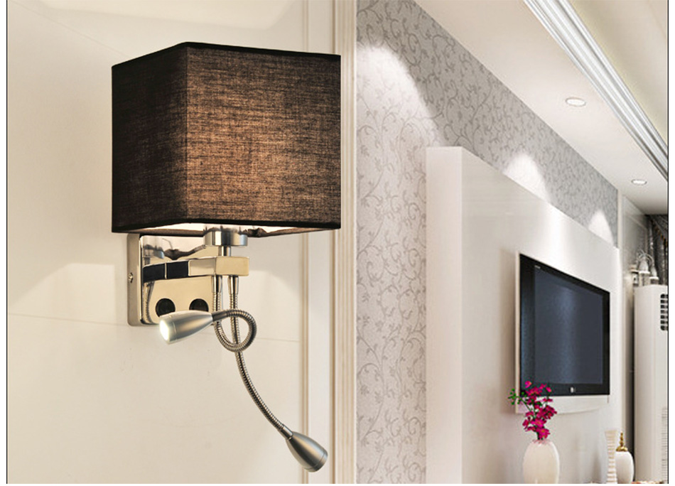 Wall Lamp Sconce Switch Stairs Light Luminaires Fixture E27 Bulb Bedroom Decor Bathroom Modern Bedside Lighting Wall Mounted (19)