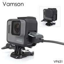 Vamson Konut Case Taban Montaj Koruyucu Çerçeve Kılıf Git pro Aksesuarları Eylem Kamera Hero7 6 5 Siyah 7 Gümüş /beyaz VP631