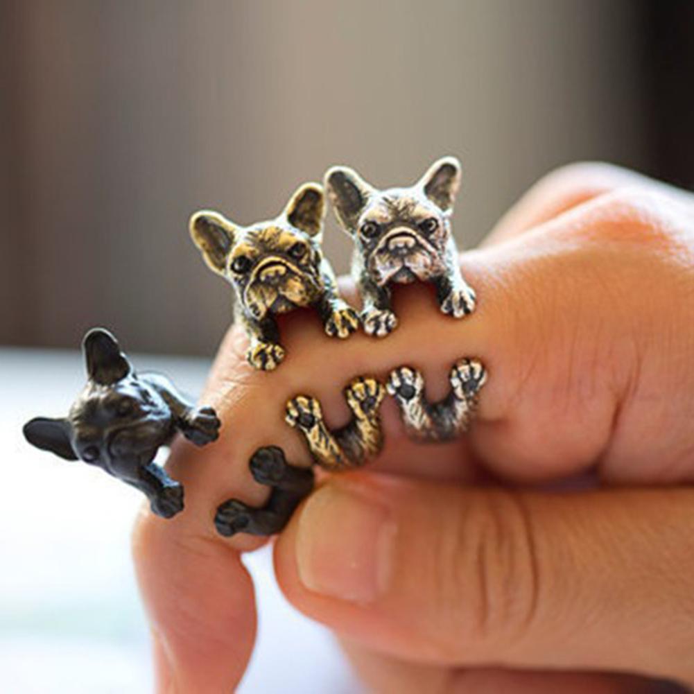 2019 Mode Einstellbare Retro Bulldog Öffnungen Ring Unisex Tier Pit Bull Hund Punk Schmuck Finger Ring Frauen Mädchen Schmuck RegelmäßIges TeegeträNk Verbessert Ihre Gesundheit