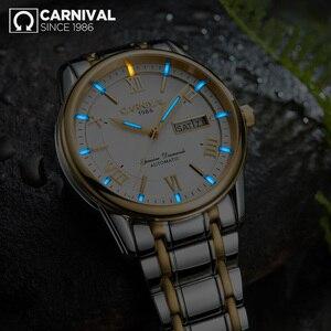 Image 4 - Carnival men watches MIYOTA automatic T25 tritium luminous mechanical watch men TOP brand luxury clocks reloj full steel relogio