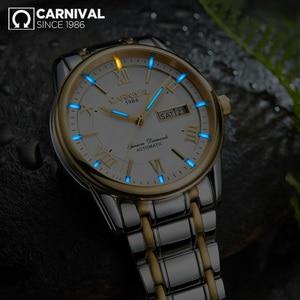 Image 4 - カーニバル男性腕時計御代田自動T25 トリチウム発光機械式時計の男性トップブランドの高級時計リロイフルスチールレロジオ