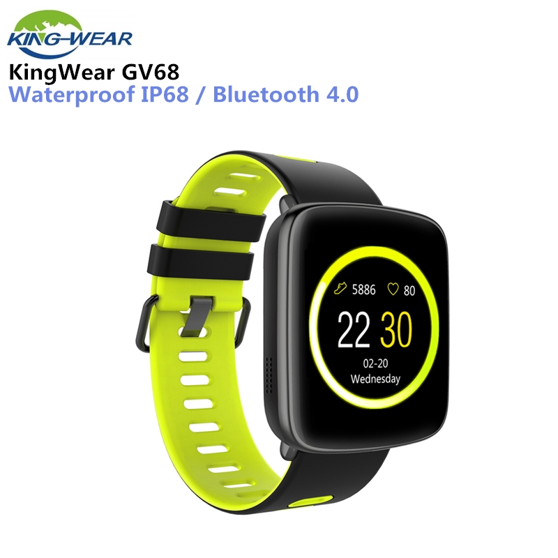 KingWear GV68 Smartwatch IP68 Waterproof Bluetooth 4.0 Android iOS Compatible Heart Rate Monitor Remote Camera Pedometer цена
