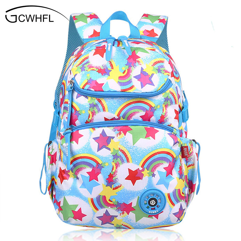 Fashion Candy Color Printing Backpacks For Girls Women Breathable School Bags Kids Backpack Teenagers Mochila Schoolbags Satchel fashion women leather backpack rucksack travel school bag shoulder bags satchel girls mochila feminina school bags for teenagers