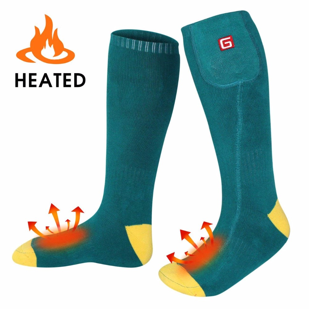 Electric Heated Socks with Rechargeable 3 7 Volt Battery Elastic Warm Health Socks for indoor and