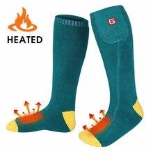 Носки с электроподогревом с перезаряжаемой батареей 3,7 вольт эластичные теплые носки для здоровья для занятий в помещении и на открытом воздухе