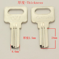 B490 Wholesale Locksmith Keymaster Brass House Home Door Blank Empty Key Blanks Keys