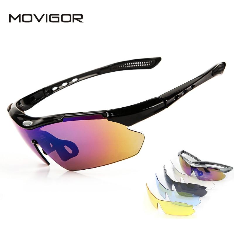 2017 MOVIGOR Mens Polarized Cycling Sunglasses Gafas Ciclismo MTB Mountain Road Bike Glasses 5 Lens PC Outdoor Bicycle Eyewear