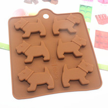 dog silicone mold for chocolate biscuit candy jelly pudding making mould