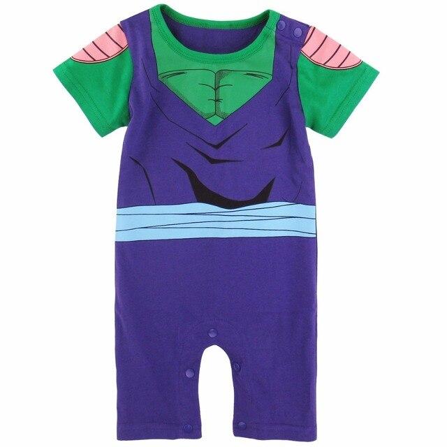 f40e1814c049 Baby Boy Piccolo Costume Romper Cute Vegetto Cosplay Infant Jumpsuit ...