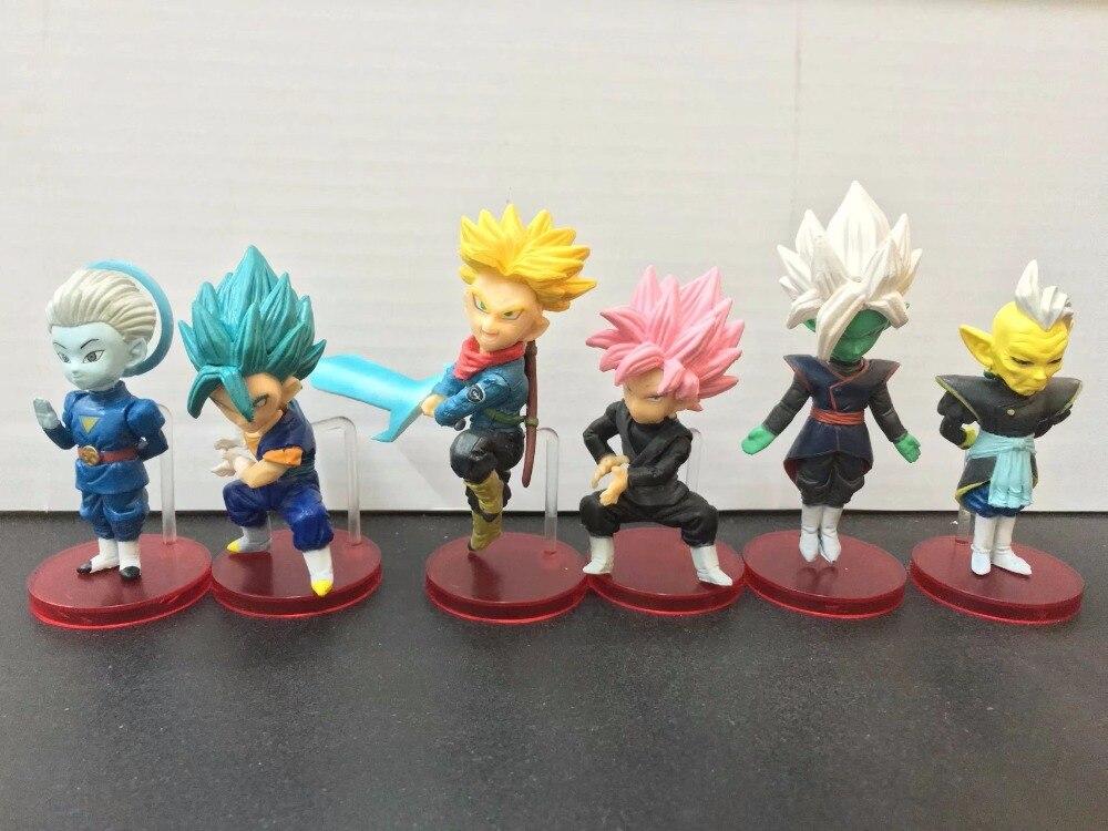 Action & Toy Figures Symbol Of The Brand Dragon Ball Action Figures Toy Goku Black Gohan Trunks Vegetto Anime Dragon Ball Super Dbz Model Toys 6pcs/set