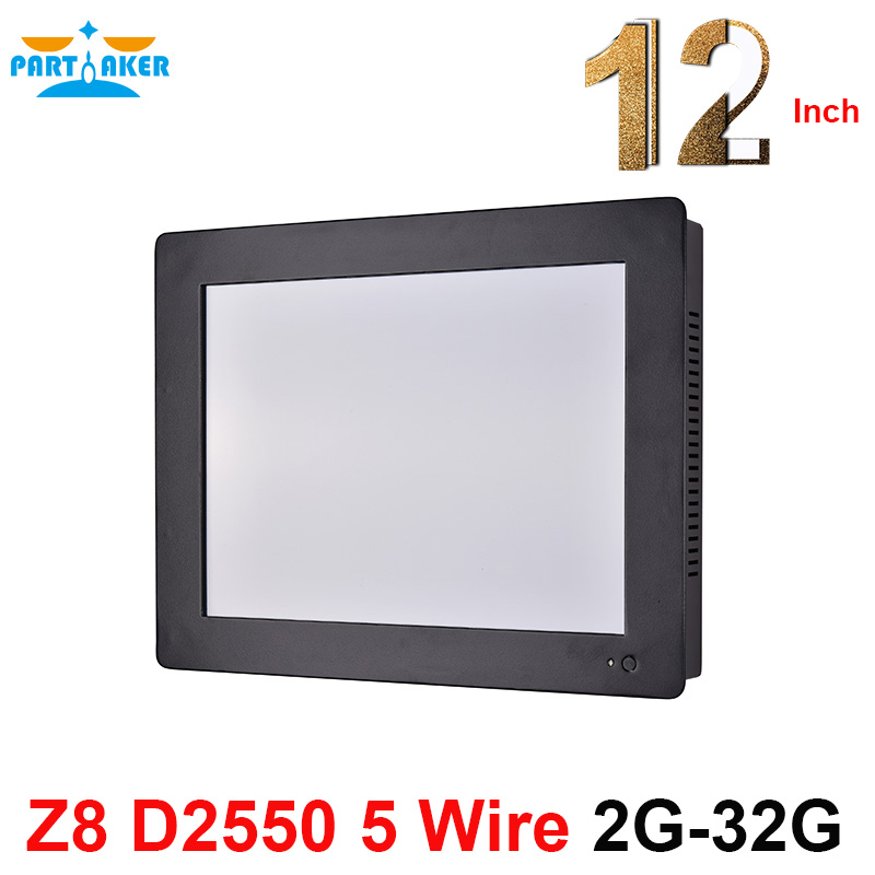 Partaker Z8 All In One Computer With Intel Atom D2550 12.1 Inch 2mm Panel Embedded Taiwan 5-wire High-temperature Touch Screen