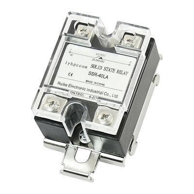 4-20mA to AC28-280V 40A 1 Phase Solid State Relay w 35mm DIN Rail Mount Bracket normally open single phase solid state relay ssr mgr 1 d48120 120a control dc ac 24 480v